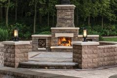 Belgard Patio and Fireplace